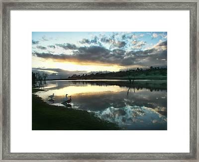 Days End At Horseshoe Lake  Framed Print