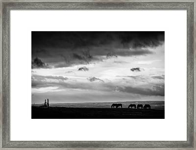 Days End At Hvammstangi Framed Print by Dave Bowman