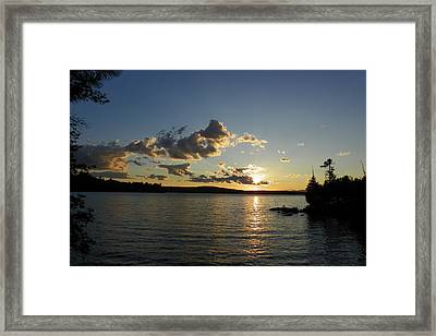 Day's End At Schoodic Lake Framed Print