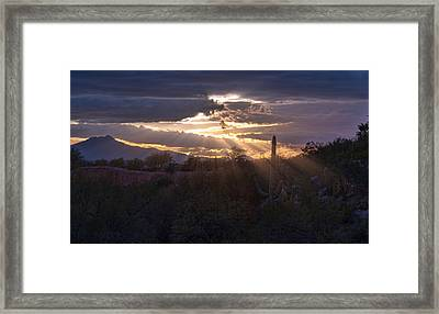 Framed Print featuring the photograph Days End by Dan McManus