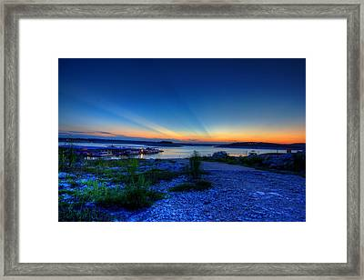 Framed Print featuring the photograph Days End by Dave Files