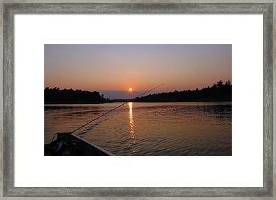 Framed Print featuring the photograph Sunset Fishing by Debbie Oppermann