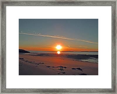 Day's End Glow Framed Print by Barbara McDevitt