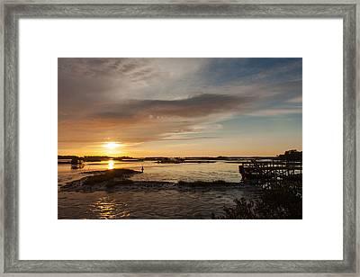Days End Framed Print by John M Bailey