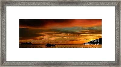 Day's End Framed Print by Julian Cook
