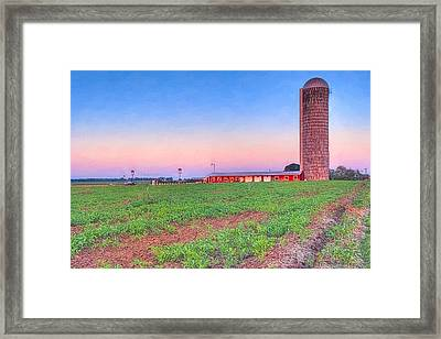 Day's End On The Farm - Rural Georgia Landscape Framed Print by Mark E Tisdale