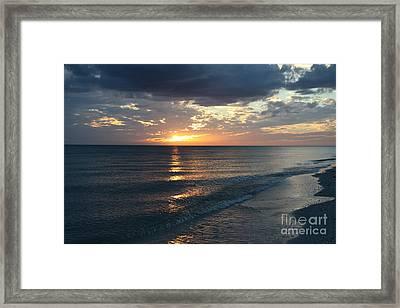 Days End Over Sanibel Island Framed Print