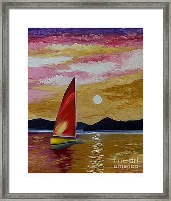 Day's End Framed Print by Peggy Miller