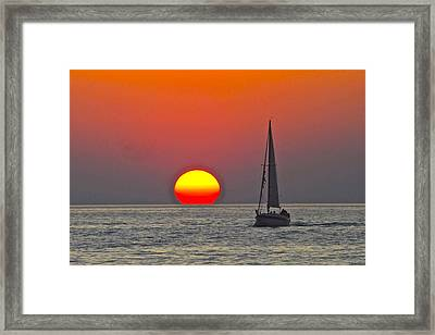 Days End Framed Print by Frozen in Time Fine Art Photography