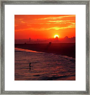 Framed Print featuring the photograph Days End by Tom Kelly