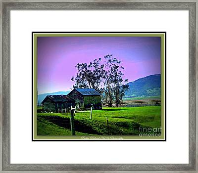 Framed Print featuring the photograph Days Gone By by Bobbee Rickard