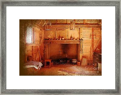 Days Gone By - Charles Town Landing Framed Print by Kathy Baccari
