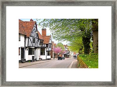 Days Gone By In Bishop's Stortford High Street Framed Print