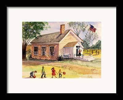 Brick Schools Framed Prints