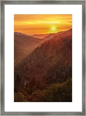 Day's Last Light Framed Print