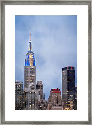 Days Of Hanukkah In New York City Framed Print