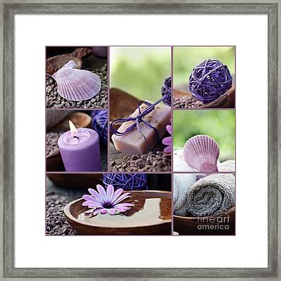 Dayspa Violet Collage Framed Print