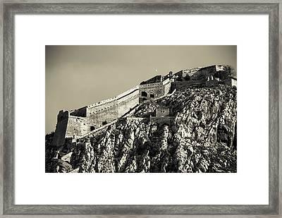 Daytime Palamidi Fortress  Framed Print by David Waldo