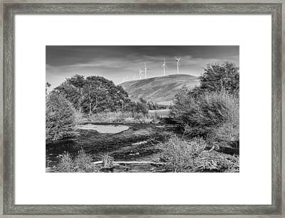 Framed Print featuring the photograph Dayton River Monochrome by Chris McKenna