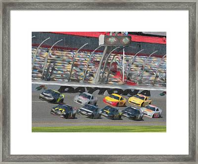 Daytona 500 Framed Print