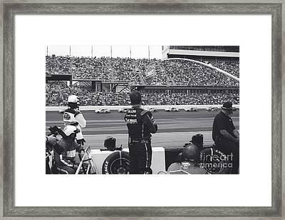 Daytona 500 Pit Crew Framed Print by Shanna Vincent