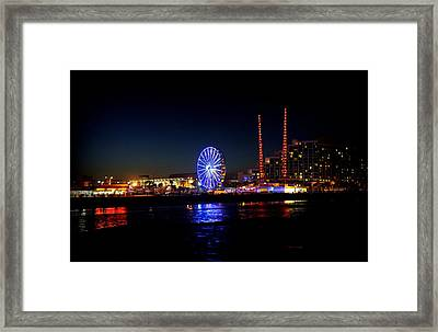 Framed Print featuring the photograph Daytona At Night by Laurie Perry