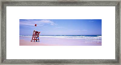 Daytona Beach Fl Life Guard  Framed Print