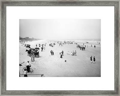 Daytona Beach Florida  1904 Framed Print