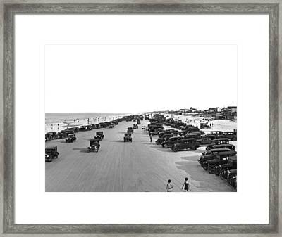 Daytona Beach, Florida. Framed Print by Underwood Archives