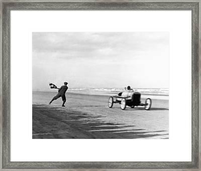 Daytona Beach New Year's Races Framed Print