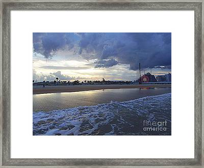 Framed Print featuring the photograph Daytona Evening by Jeanne Forsythe