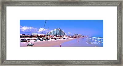 Daytona Main Street Pier And Beach  Framed Print