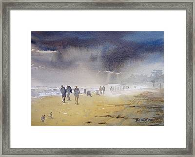 Daytona Storm Framed Print by Kris Parins