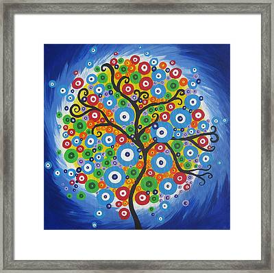 Dazzle Tree Framed Print by Cathy Jacobs