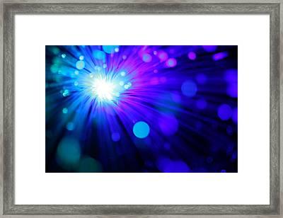 Dazzling Blue Framed Print