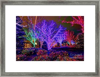 Dazzling Christmas Lights Framed Print