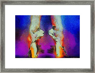Framed Print featuring the painting Dazzling Dancing Shoes by Kai Saarto