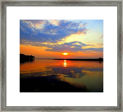 Dazzling End Of The Day Framed Print