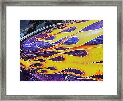 Dazzling Flames - Vintage Hot Rod Framed Print