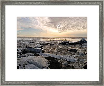 Dazzling Winter On Lake Superior Framed Print by James Peterson