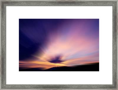 Dazzlingly Framed Print