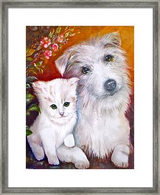 Db And  Some Sugar Framed Print by Patricia Schneider Mitchell