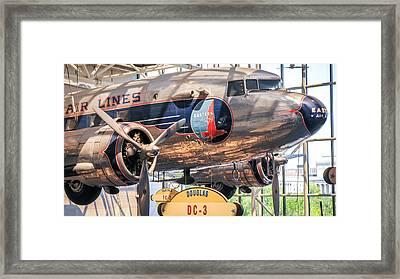 Dc-3 Eastern Airlines Framed Print by William Krumpelman