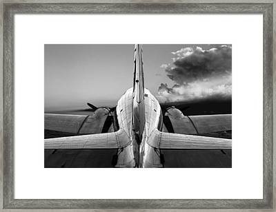 Dc-3 Rear View 1 Framed Print