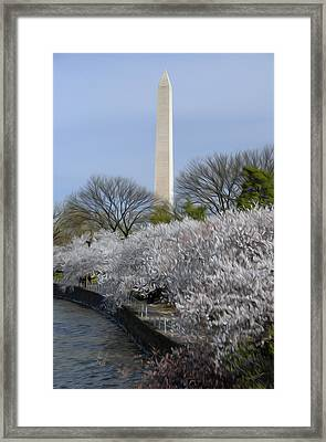 Framed Print featuring the digital art Dc Blossoms by Kelvin Booker