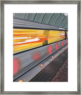 Dc Light Rail Framed Print by Jude Labuszewski