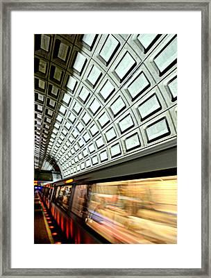 D.c. Metro Framed Print by Ryan Johnson