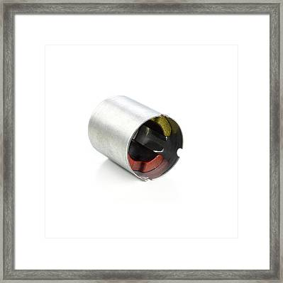 Dc Motor Shell Framed Print by Science Photo Library