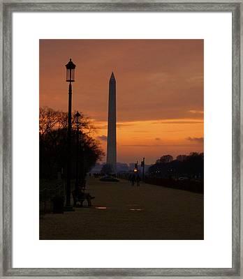 Dc Sunset Framed Print