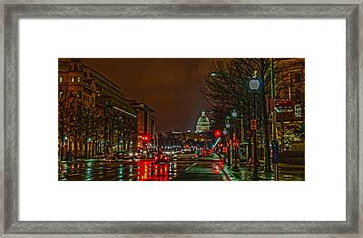 D.c. Traffic Framed Print